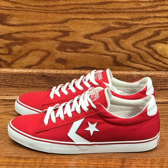 22878dd92ec Converse Pro Leather Ox Varsity Red White Shoes